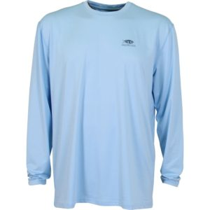 Aftco Bower Long Sleeve Performance Light Blue Front