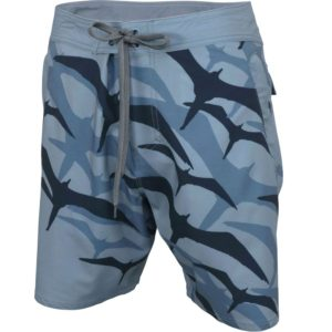 Aftco Frigate Boardshorts Slate Blue Front
