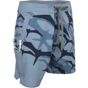 Aftco Frigate Boardshorts Slate Blue Side