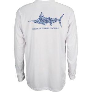 Aftco Jigfish Long Sleeve Performance Shirt White Back
