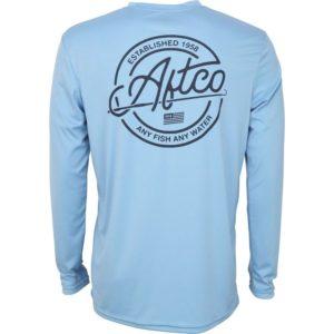Aftco Momentum Long Sleeve Performance Shirt Magnum Blue Back