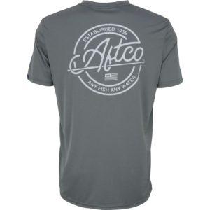 Aftco Momentum Short Sleeve Performance Shirt Charcoal Back