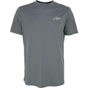 Aftco Momentum Short Sleeve Performance Shirt Charcoal Front