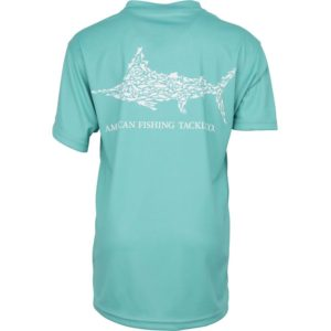 Aftco Youth Jigfish Short Sleeve Performance Mint Back