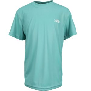 Aftco Youth Jigfish Short Sleeve Performance Mint Front